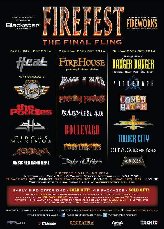 Firefest XI Lineup 2014